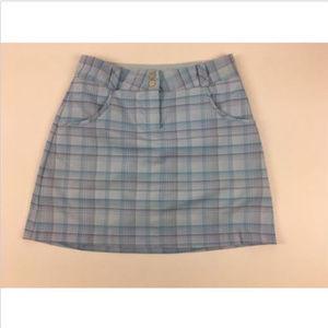 Nike Golf Skirt Size 2 Dri Fit Blue Plaid